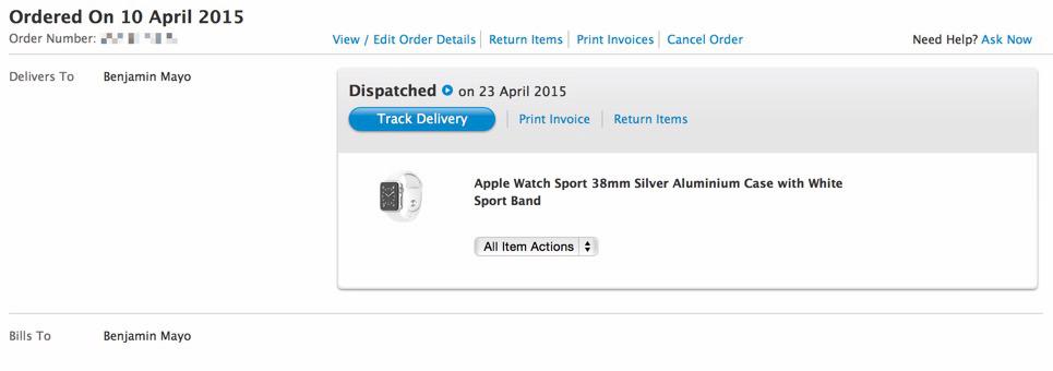 Apple начинает доставлять первые Apple Watch