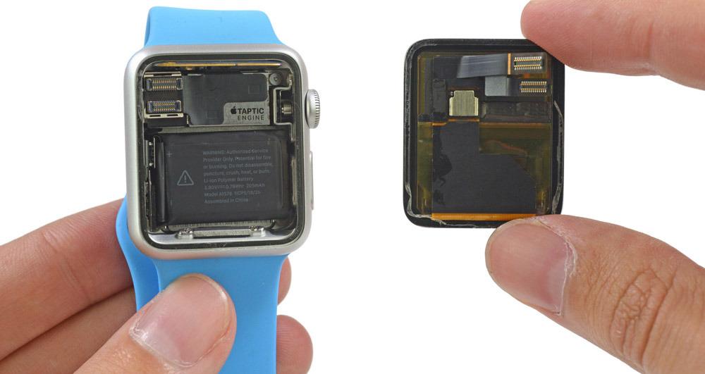Стоимость компонентов Apple Watch Sport — $84