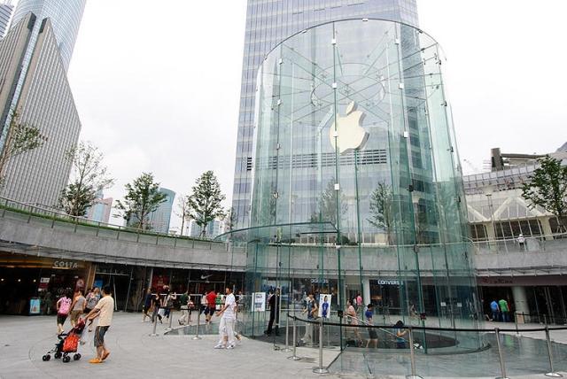 Apple запатентовала дизайн цилиндрического Apple Store