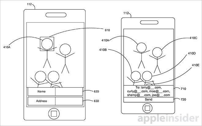 Apple патентует изобретение, которое автоматически отправляет фотографии на основе данных распознавания лиц