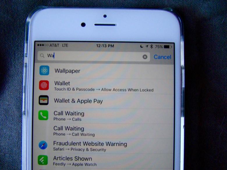 Как найти нужные настройки в iOS 9