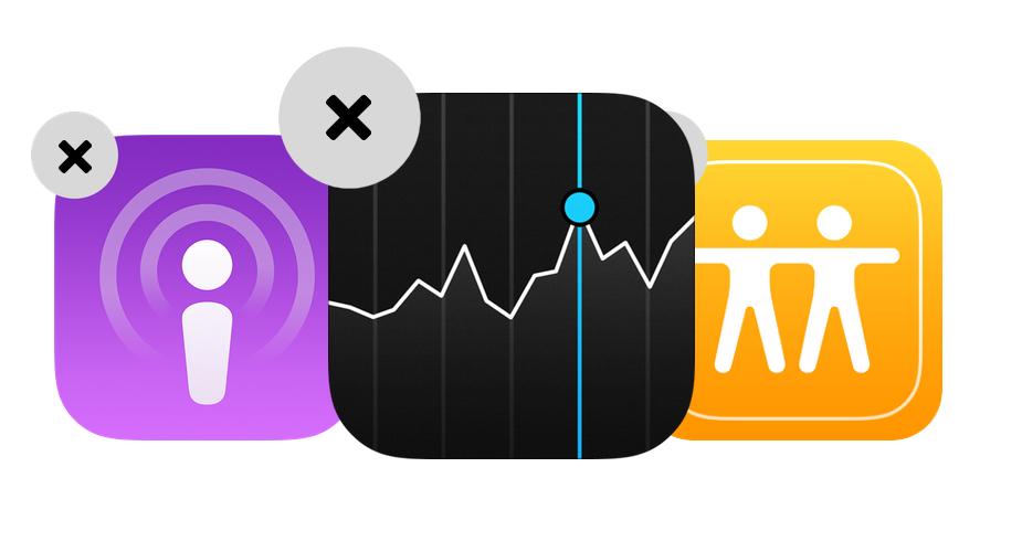 Apple может позволить удалять системные приложения в iOS