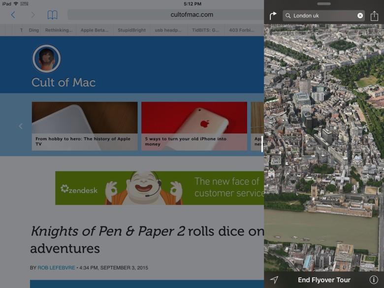 Многозадачность на iPad с Slide Over в IOS 9