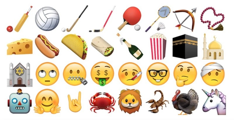72 новых Emoji иконок добавятся в Unicode 9