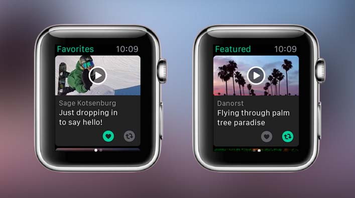 Приложение Vine теперь и на Apple Watch