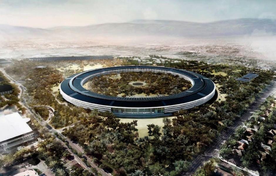 Новое видео дрона со стройки Apple Campus 2