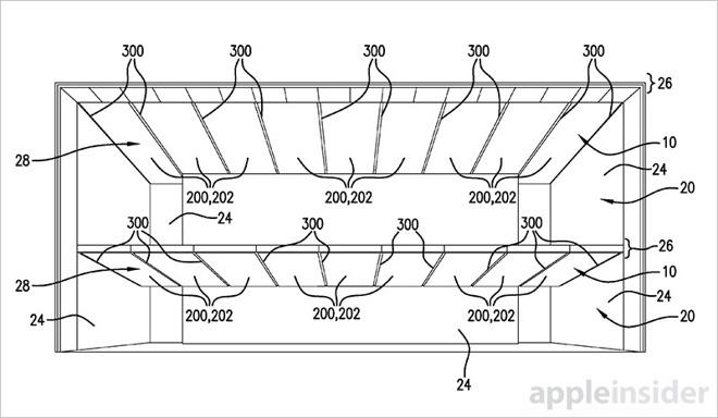 Потолочная система освещения — новый патент от Apple