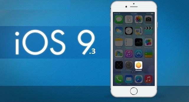 Apple выпустила новую версию сборки iOS 9.3 для старых устройств