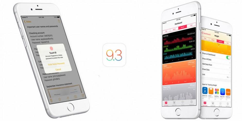 Apple выпустила iOS 9.3 beta 1.1 для разработчиков