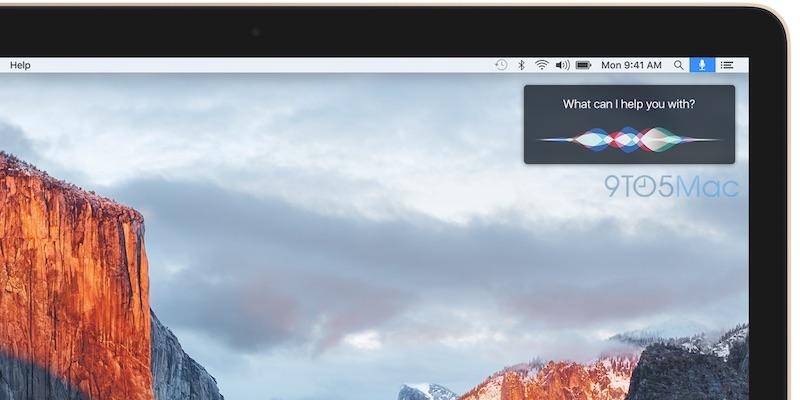 Siri появится в строке меню OS X 10.12 уже в этом году