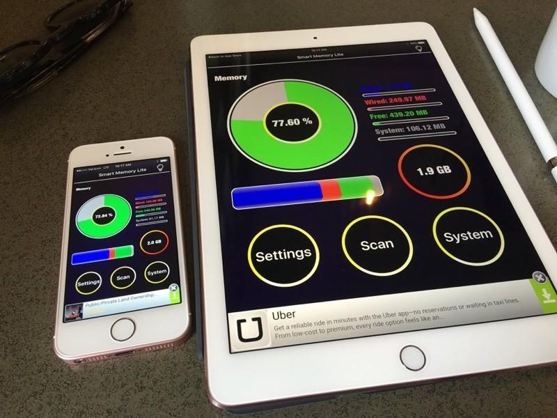9.7 дюймовый iPad Pro и iPhone SE имеют 2GB RAM