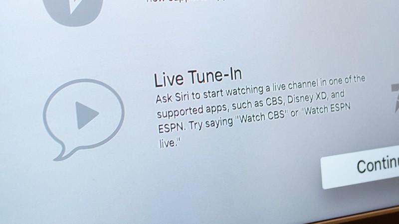 Apple начала продвигать новую функцию Apple TV 4 поколения - Live Tune-In
