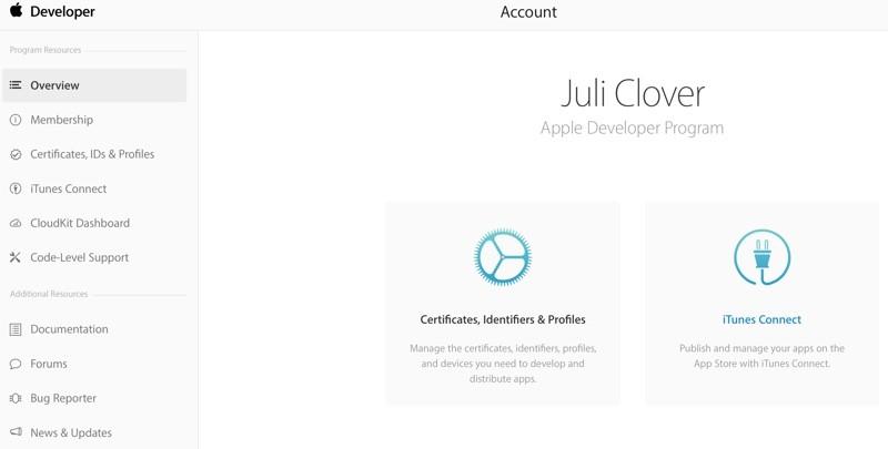 Apple обновила страницу учетной записи Центра разработчиков