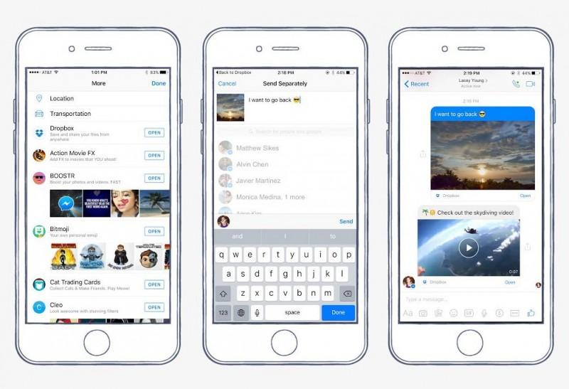 Facebook Messenger для iOS получил интеграцию с Dropbox
