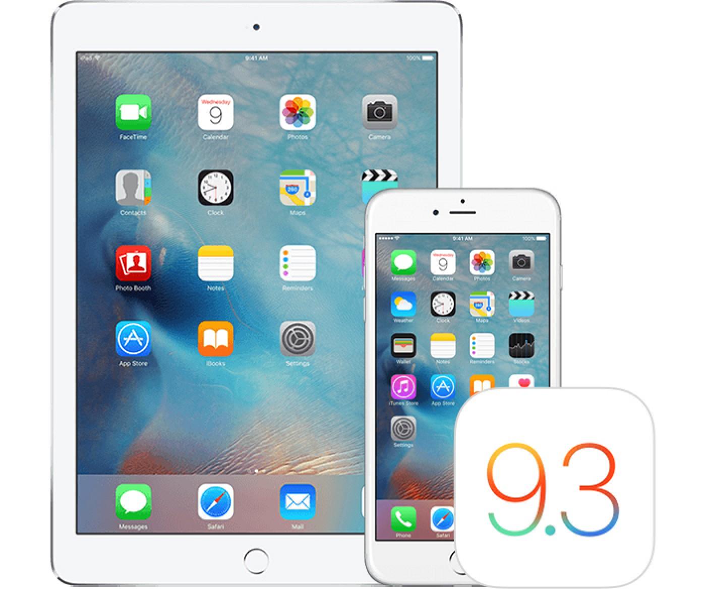 Apple выпустила четвертые беты iOS 9.3.2 и OS X 10.11.5 для разработчиков и бета-тестеров