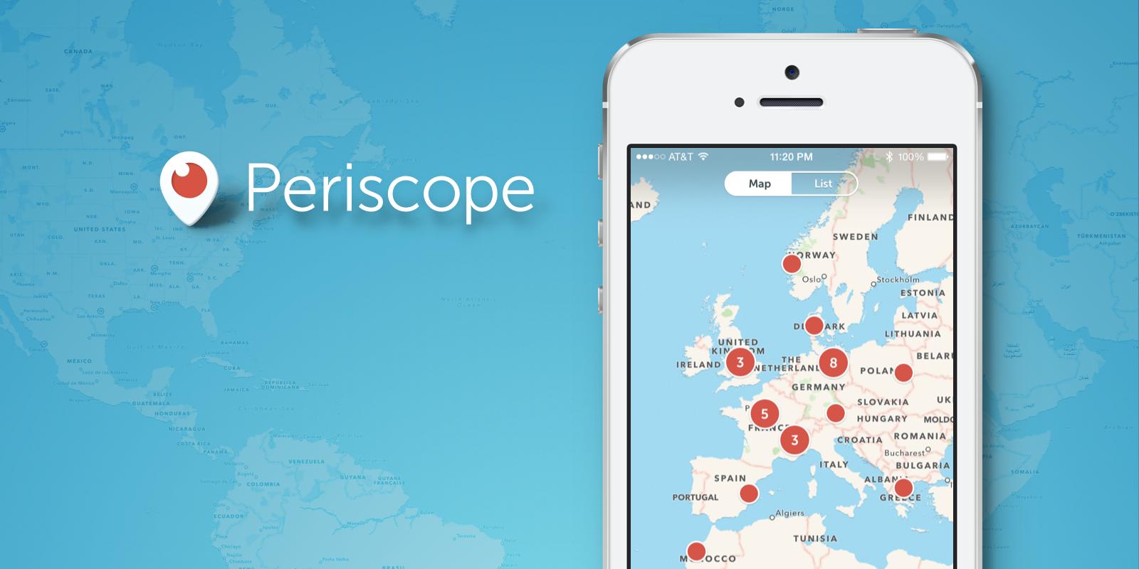 Twitter выкатывает новую кнопку сервиса Periscope в своем iOS клиенте