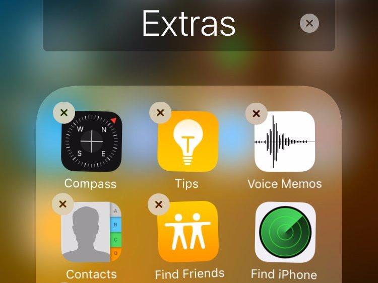 iOS 10 позволит пользователям удалить встроенные приложения