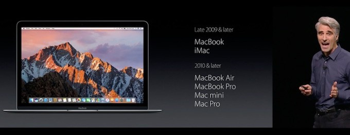 Список Mac копьютеров, которые будут совместимы с macOS Sierra