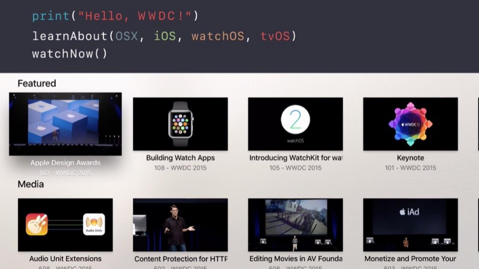 Apple обновила официальное приложение WWDC App с новым дизайном и поддержкой Apple TV