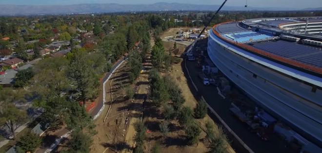 Новое видео со стройки Apple Campus 2 / Ноябрь 2016