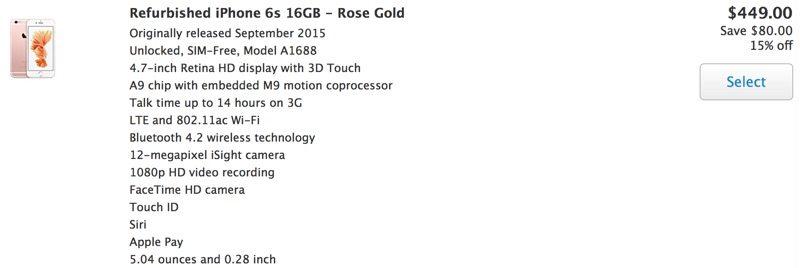 Apple начала продажи восстановленных iPhone на своем сайте