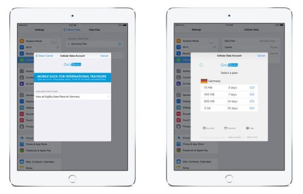 Apple SIM партнер GigSky теперь предлагает тарифные планы передачи данных в более чем 40 странах