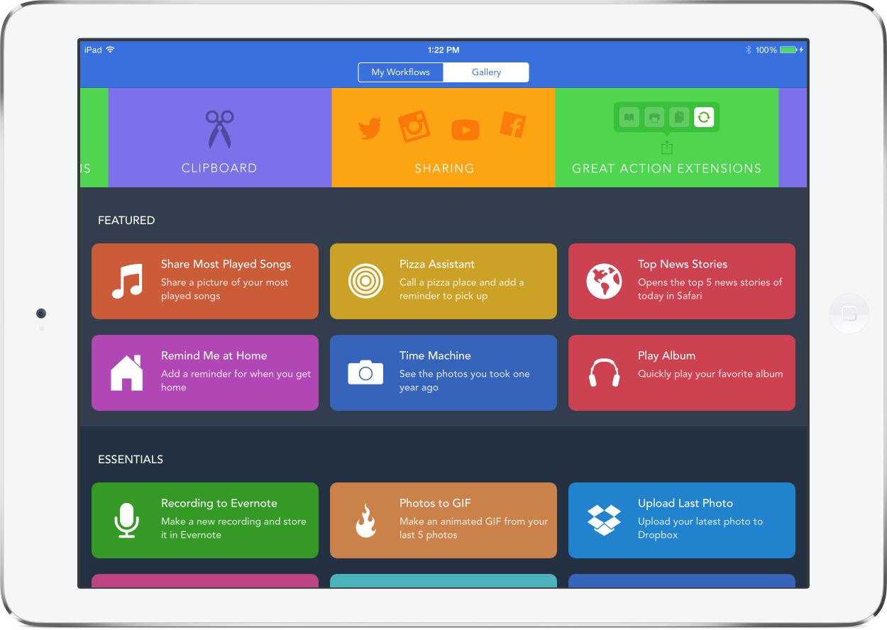 Apple приобрела популярное приложение Workflow