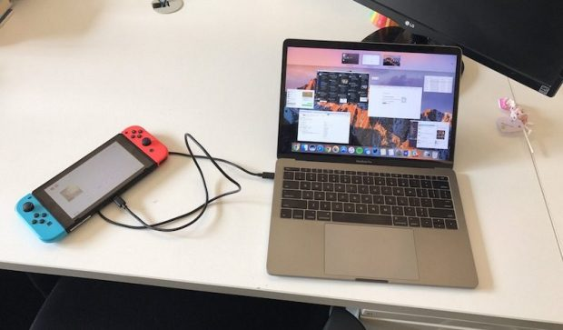 Nintendo Switch работает как внешний аккумулятор для USB-C в MacBook Pro