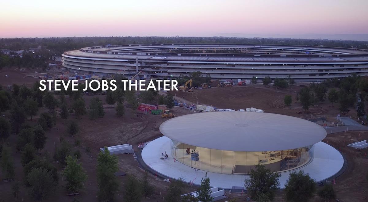 Новый видеоролик с дрона, показывает театр имени Стива Джобса
