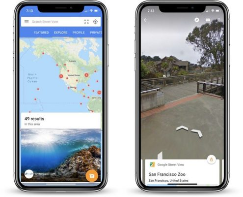 Google Street View iPhone X