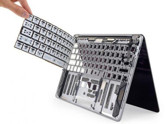 iFixit провели тесты силиконовой мембраны в клавиатуре нового MacBook Pro 2018