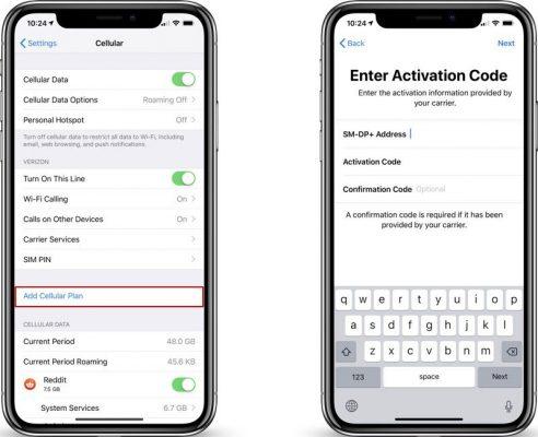 Функциональность eSIM доступна в iOS 12.1, но требуется поддержка оператора
