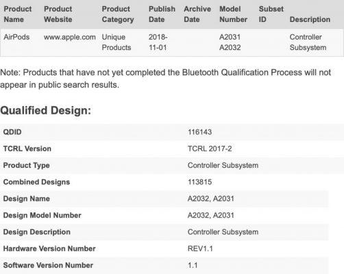 Новые номера моделей AirPods отображаются в базе данных Bluetooth, намекая на предстоящий их выпуск