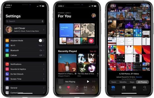 Dark Mode в iOS 13