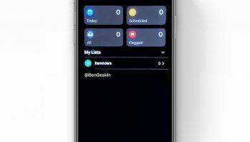 Утечка на последней минуте показывает новое приложение напоминаний для iOS 13 в темном режиме