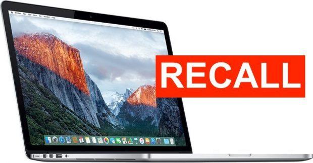 О MacBook Pro с диагональю 15 дюймов 2015 года с неисправными аккумуляторами, запрещенными для полетов в США