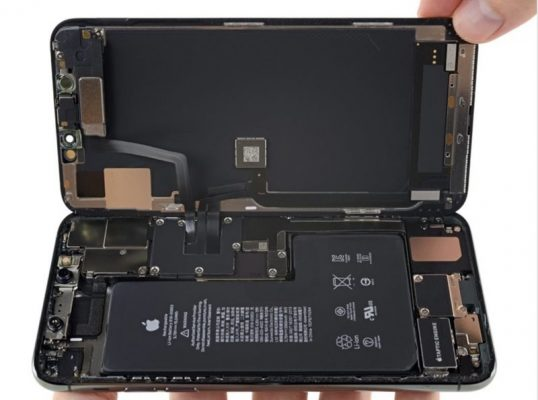 iFixit iPhone 11 Pro Max намекает на функцию двусторонней беспроводной зарядки