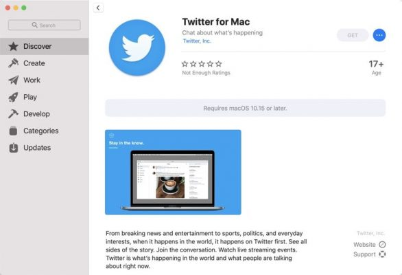 Twitter для Mac теперь доступен в Mac App Store