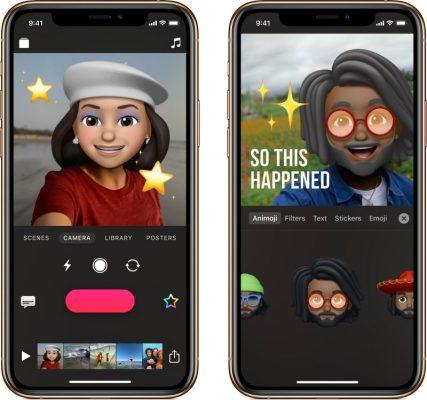 Приложение Apple Clips получает поддержку для Memoji и Animoji, а также новые стикеры