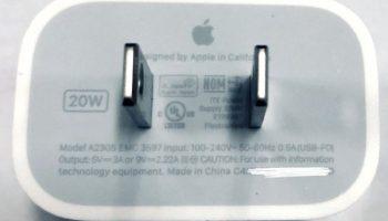 20W адаптер питания для моделей iPhone 12, кажется, получил сертификацию