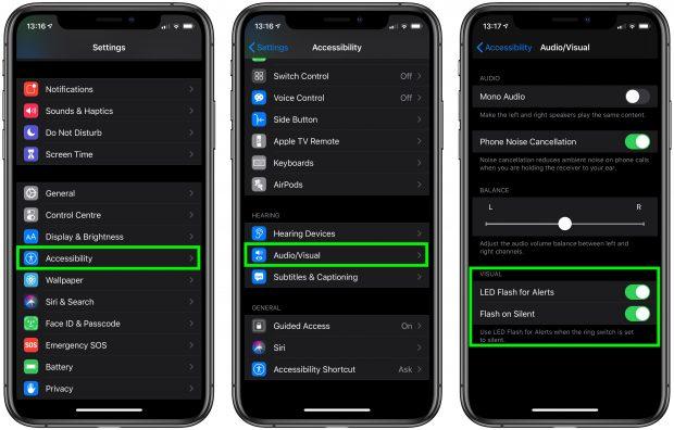 Как включить светодиодную вспышку для уведомлений на iPhone и iPad Pro