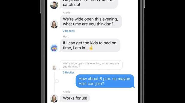 Как отправить встроенные ответы в приложении Сообщения iOS 14