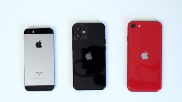 Примерное сравнение макета iPhone 12 с другими моделями